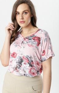 Różowa bluzka born2be z krótkim rękawem