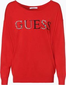 Czerwony sweter Guess Jeans z jeansu