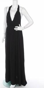 Czarna sukienka ANEL maxi