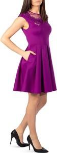 Fioletowa sukienka Ted Baker mini bez rękawów