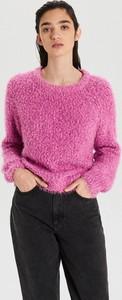 Fioletowy sweter Cropp w stylu casual