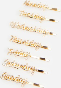 Reserved - Spinki na każdy dzień tygodnia - Złoty