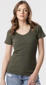 Zielona bluzka born2be z krótkim rękawem