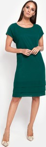 Zielona sukienka Molton z krótkim rękawem