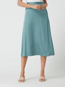 Miętowa spódnica Esprit z satyny midi