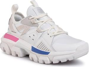 Buty sportowe Caterpillar na platformie ze skóry sznurowane