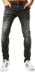 Czarne jeansy Dstreet z bawełny w stylu casual