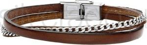 Silverado męska bransoletka z rzemienia naturalnego - 77-ba526a
