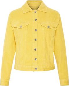 Żółta kurtka Vero Moda z bawełny