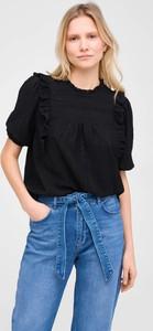 Czarna bluzka ORSAY w stylu casual z okrągłym dekoltem