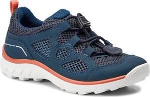 Niebieskie buty sportowe dziecięce Ecco