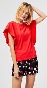 Bluzka Moodo z krótkim rękawem z bawełny w stylu casual