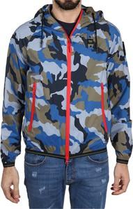 Niebieska kurtka Blauer Usa w młodzieżowym stylu z polaru