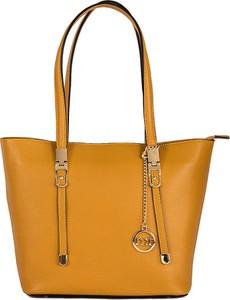 Brązowa torebka Mia Tomazzi na ramię duża matowa