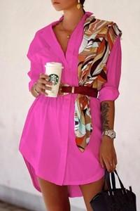 Różowa koszula IVET w stylu casual