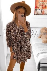 Sukienka HERS.pl z długim rękawem mini
