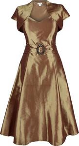 Sukienka Fokus z tiulu z krótkim rękawem midi