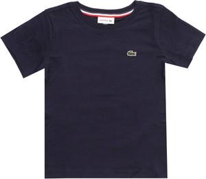 Koszulka dziecięca Lacoste z bawełny dla chłopców z krótkim rękawem
