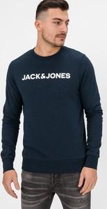 Granatowa bluza Jack & Jones z bawełny
