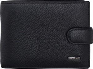 Czarny portfel męski Nicolas ze skóry