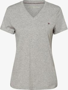 T-shirt Tommy Hilfiger z dekoltem w kształcie litery v w stylu casual z bawełny