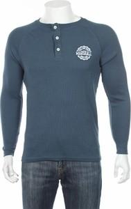 Niebieska koszulka z długim rękawem Marshall