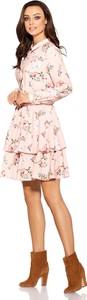 Sukienka Lemoniade w stylu boho mini z kołnierzykiem
