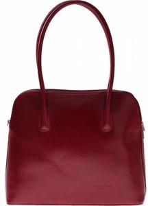 Czerwona torebka Vera Pelle do ręki średnia w stylu casual