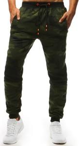Zielone spodnie sportowe Dstreet z bawełny