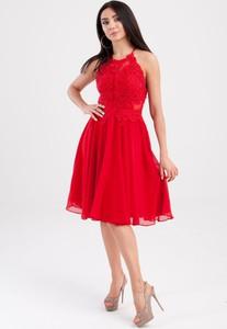 Czerwona sukienka Butik Ecru bez rękawów