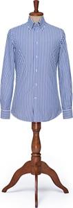 Koszula LANCERTO z bawełny z długim rękawem z kołnierzykiem button down