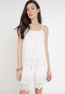 Sukienka born2be na ramiączkach mini z okrągłym dekoltem