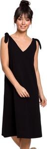 Czarna sukienka BeWear na ramiączkach