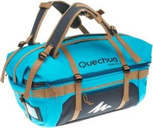 Turkusowa torba sportowa Quechua z tkaniny