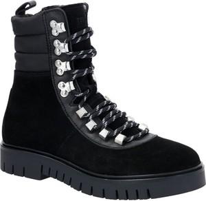 Czarne trapery damskie Tommy Jeans z płaską podeszwą