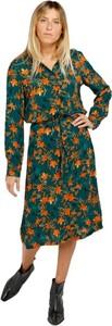 Sukienka Grace & Mila z długim rękawem w stylu casual z dekoltem w kształcie litery v