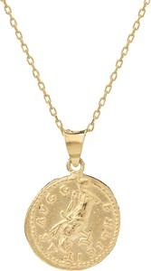 Ania Kruk Naszyjnik URBAN CHIC srebrny pozłacany z monetą 2,1 cm