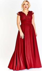 Czerwona sukienka omnido.pl gorsetowa