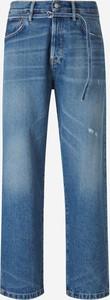 Niebieskie jeansy Acne z bawełny w stylu casual