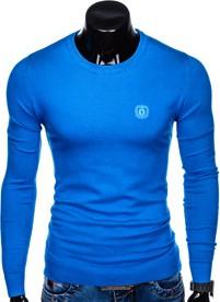 Niebieski sweter Ombre Clothing z bawełny