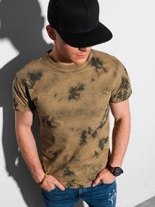 T-shirt Ombre w młodzieżowym stylu z nadrukiem