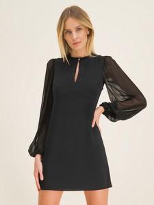 Czarna sukienka Pinko z długim rękawem mini