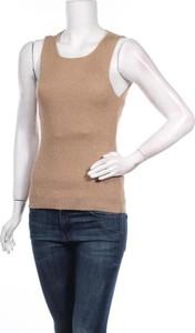 Brązowy sweter Vero Moda w stylu casual