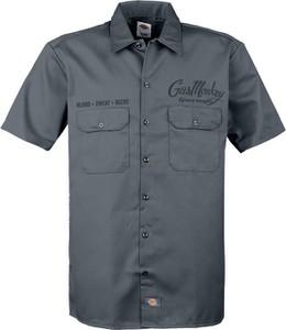 Niebieska koszula Gas Monkey Garage z bawełny