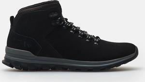 Buty zimowe Cropp ze skóry sznurowane