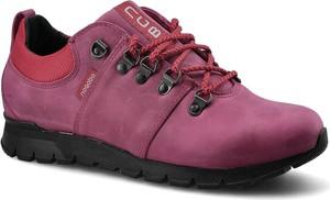 Różowe buty trekkingowe NAGABA sznurowane