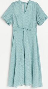 Niebieska sukienka Reserved z krótkim rękawem