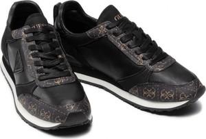 Czarne buty sportowe Guess ze skóry w sportowym stylu