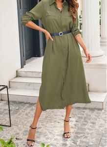 Sukienka Cikelly koszulowa w stylu casual midi