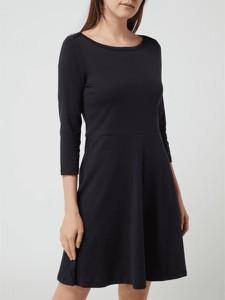 Czarna sukienka Esprit mini z dzianiny z długim rękawem
